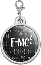 GRAPHICS & MORE E=MC 2 Energy Mass Equation Albert Einstein Theory of Special Relativity Math Chrome Plated Metal Pet Dog Cat ID Tag