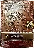 Urban Leather Journal - Diario de Sun Moon - Cuaderno de dibujo hecho a mano, vintage, sin forro
