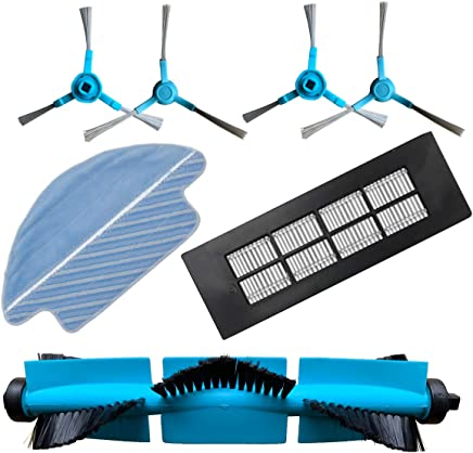Trapo de Limpieza REYEE Pack de 12 Kit de Accesorios de Repuesto para Cecotec Conga 3490 Robot Aspiradora 8 Cepillo Lateral /& 4