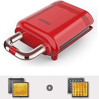 Máquina De Desayuno Ligera Sandwich Calefacción Tostada Sartén Antiadherente Sartén Eléctrica Prensas Calefactoras De Doble Cara Hogar Ideal para El Desayuno 700W