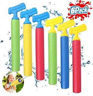 TNELTUEB Water Guns Toys for Kids, 6 Pack Super Water Shooter Blaster Gun, Set Up to 30 FT, Squirt Gun Summer Pool Beach Yard and Park Play Toys