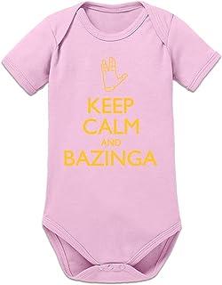 Shirtcity Keep Calm Bazinga Hand Baby Strampler by