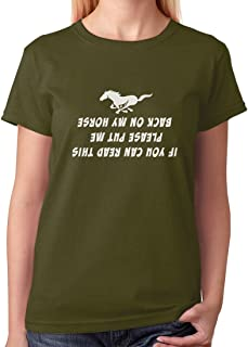 TeeStars - Put Me Back On My Horse Funny Gift for Horse Lover Women T-Shirt