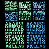 Resplandor en el interruptor del ordenador portátil letras oscuras etiqueta engomada luminosa del alfabeto pegatinas pared muebles de la casa DIY Decoración Nombre de la etiqueta engomada De alta cali