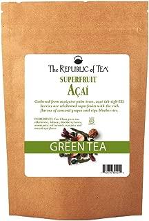 The Republic of Tea Acai Superfruit Green Tea Full-Leaf Tea, 1 Pound / 200 Cups