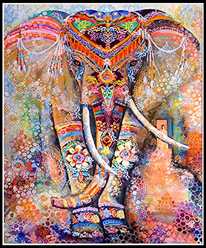 Diamond Painting Art Kits for Adults (19.7x15.7inch) Elephant DIY 5d Diamonds...