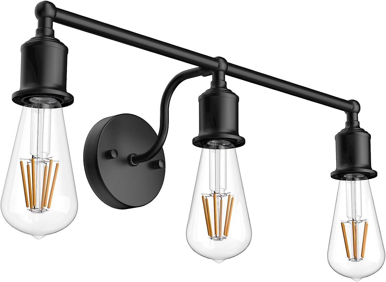 Aipsun Black wholesale OFFicial mail order Bathroom Vanity Lighting Light Industrial Fi