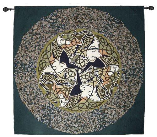 Celtic Horses - Epona - Fine Art Tapestry - Designed by Jen Delyth
