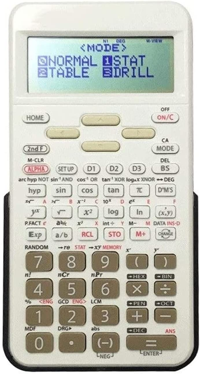 PWV Scientific Calculators Multifunction Study Scientific Calculators Primary and Middle School Students LCD Widescreen Display Multi-function Test Electronic Computer for Business Office School Calcu