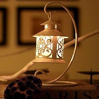 Toim Regalos Decoración clásica estilo iron-art titular de la vela de hierro forjado vela
