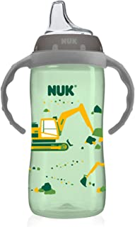 NUK Large Learner Sippy Cup, Green Tractor Designs, 10oz 1pk (Packaging may vary)