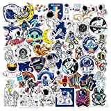 Colorful Laptop Sticker 100pcs Astronaut Space Graffiti Stickers for Wall Fridge Water Bottle Car Bumper Bike Motorcycle Skateboard Luggage, Waterproof and No Trace Space Shuttle Vinyl Stickers
