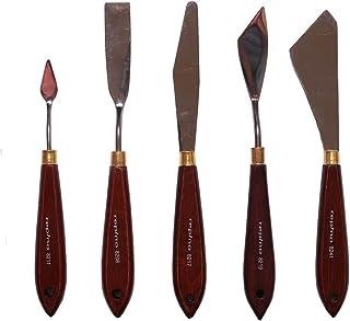 Cuchillo de paleta espátulas. Set para acrílico y aceite–5Unidades