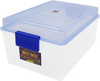 サンコープラスチック 収納ケース ベストボックス 幅16.7×奥24.7×高11.8cm クリアブルー