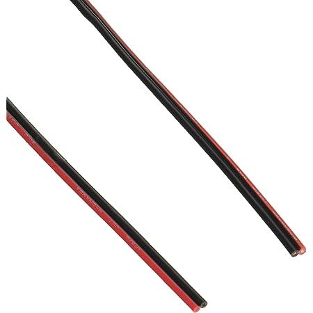 OHM 配線用 スピーカーコード 赤/黒 10m (04-7396)