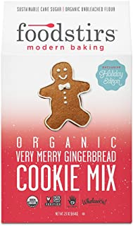 Foodstirs Organic, Non GMO Very Merry Gingerbread Cookie Mix, 23 Ounce (Pack of 6)