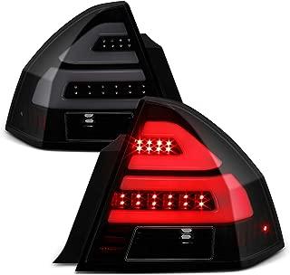 Fits 2006-2013 Chevy Impala 2014-2016 Impala Limited LED [Tube Bar] Black Smoked Tail Light Brake Lamp Left+Right Pair