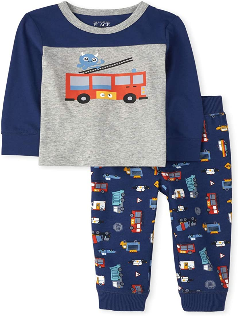 The Children's Place baby-boys Baby and Toddler Fire Truck Outfit Set