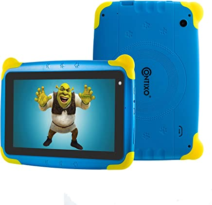 """$52 Get [Upgraded] Contixo K4 HD 7"""" Kids Tablet with Durable Protection Case, Pre-Installed Games Android 6.0 Bluetooth WiFi Dual Cameras Parental Control for Children (Blue)"""