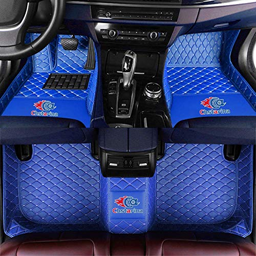 Custom Car Floor Mats - Customized for Chrysler 200 300 300C 300S Front & Rear Leather Liner/Set (Blue)