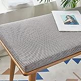 RYQS 4 cm Startseite Outdoor Atmungsaktiv Nicht-Slip Waschbar Bank Sitzkissen Stuhl Kissen Schwamm Kissen B 140x30cm (55x12inch)