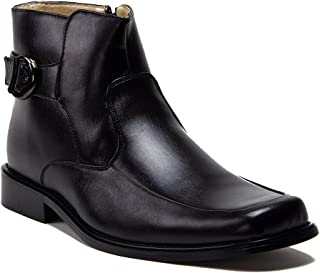J'aime Aldo Men's 38306 Leather Lined Tall Zipped Square Toe Chelsea Dress Boots