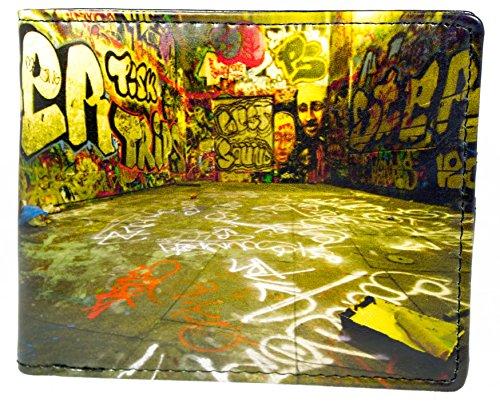 Shagwear Herren Geldbörse, Mens Wallet: Verschiedene Farben und Designs:, Graffiti/ Graffiti, Large