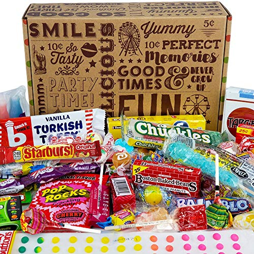VINTAGE CANDY CO. HAPPY BIRTHDAY NOSTALGIA FUN CANDY CARE PACKAGE - Retro Candies Assortment Variety...