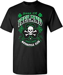 Feelin Good Tees Hooligans Saint Irish Pats Motorcycle Mens Funny St. Patrick's Day T Shirt