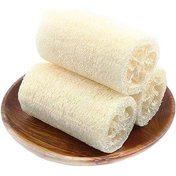 [えみり] 食器洗い 天然ヘチマ 3点セット キッチン 台所用 スポンジ 食器ブラシ ポータブル 風呂スポンジ ひも付き 便利 柔らかい 3点セット