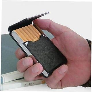 LAVALINK Metal Caso De Cigarrillos del Bolsillo De Cuero De La PU De Diseño De Transporte De Cigarrillos Cuadro Titular pa...