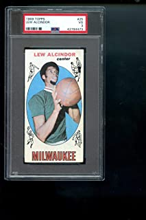 1969-70 Topps #25 Lew Alcindor Kareem Abdul-Jabbar ROOKIE RC PSA 3 Graded Card