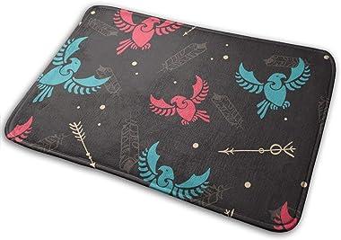 Decorative Doormat Home Decor Arrows Tribal Birds Arrows Hunt Welcome Indoor Outdoor Entrance Bathroom Floor Mats Non Slip Wa
