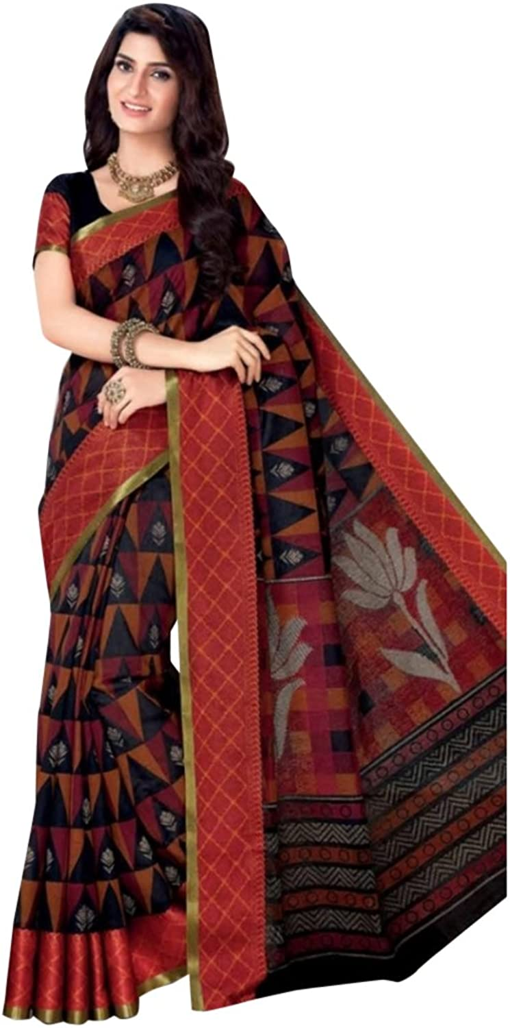 Designer Bollywood Cotton Saree Sari for Women Latest Indian Ethnic Collection Blouse Formal Wear Ceremony 2601 15