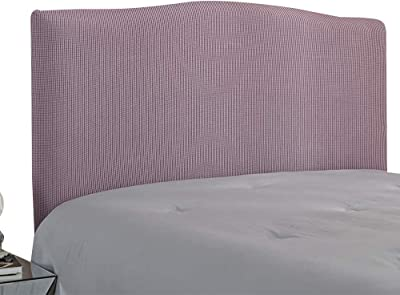 Bed Headboard Cover Stretch Bed Headboard Cover Bed Headboard Protector Solid Dustproof Bed Headboard Cover Light Purple