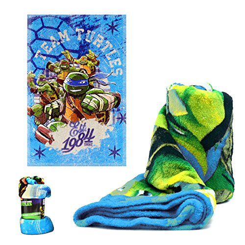 Tortugas Ninja Manta CORALINA 95X150 Azul, Multicolor, 150x92