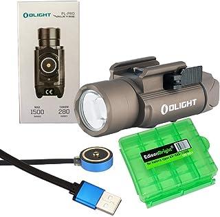 EdisonBright Olight PL-Pro 1500 Lumen Rechargeable LED Weapon/Pistol Light (PLPRO) for Handguns Charging Cable Carry case ...