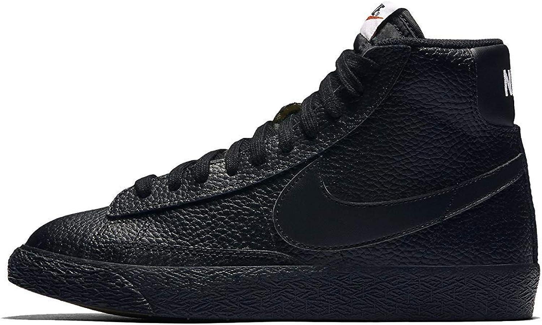 Nike Kid's Blazer Mid GS, Black White-White