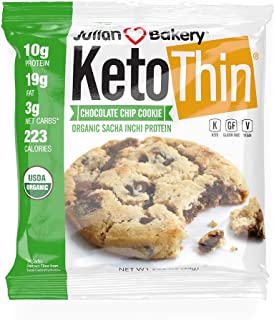Sponsored Ad - Julian Bakery Keto Thin Chocolate Chip Cookie   Organic Sacha Inchi Protein   10g Protein   3 Net Carbs   1...