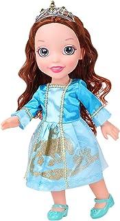 huashun Princess Jasmine Doll, Princess Jasmine with Blue Dress and Jeweled Necklace and Crown 14inch Tall
