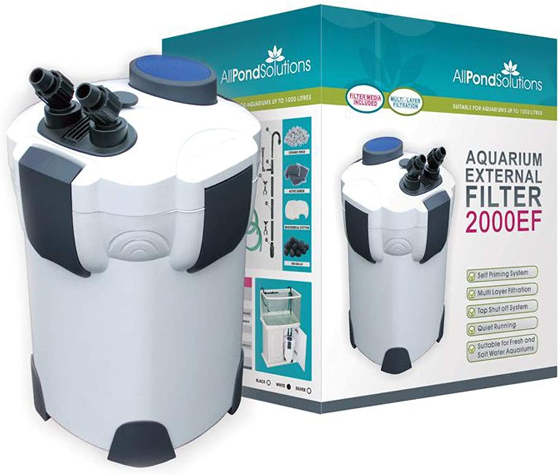 All Pond Solutions 2000EF Aquarium External Filter, 2000 Litre  Hour