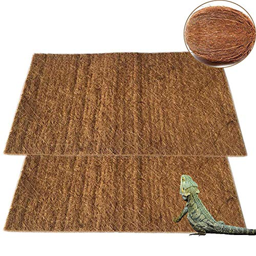 PIVBY Coconut Fiber Lizard Mat Natural Reptile Carpet Pet Terrarium Liner for Lizard Snake Chamelon Turtle Bedding Bunny Rabbit