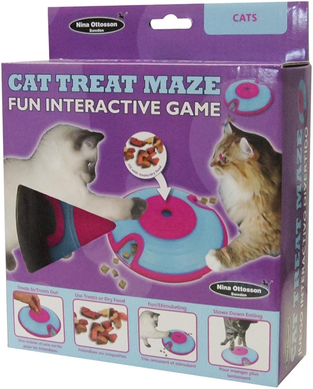 Company of Animals Cat Treat Maze Plastic Interactive Treat Dispenser