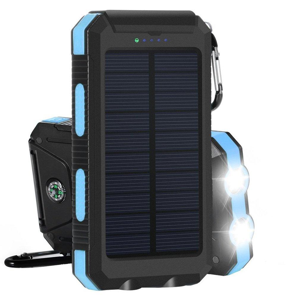 Cargador Solar Banco de energía solar 10000mAh con una Batería de reserva externa Cargador de doble