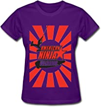SANYOU Women's American Ninja Warrior Logo T-shirt