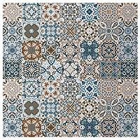 6ピース3Dモロッコスタイルの自己接着階段ステールセラミックタイルPVC階段壁紙デカールビニール壁画階段の装飾 (Color : 1pcs 10x10cm)