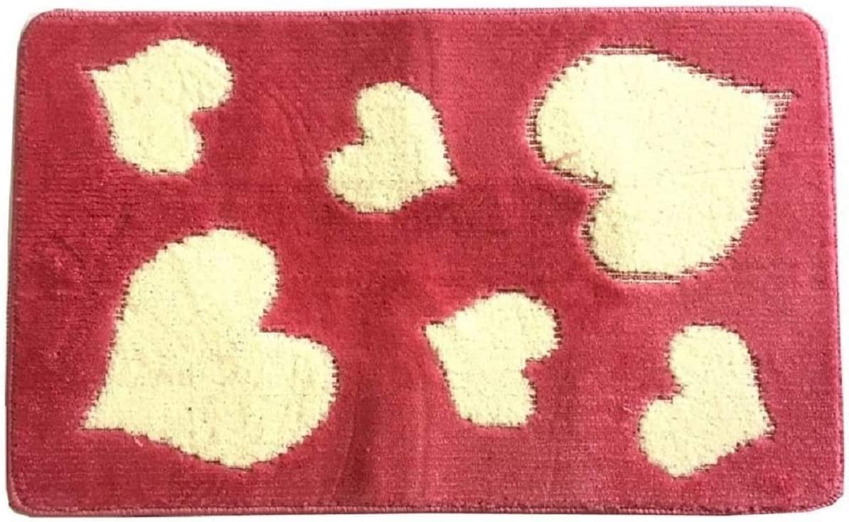 Cuori Rosso 3 Pezzi Menitashop Set TAPPETI Tappeto Bagno Antiscivolo 3 Pezzi 1 Pezzo BUONA QUALITA Vari Colori