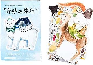 30 piezas Tarjeta postal de felicitación creativa postal retro del paisaje postal de la postal [Animales]