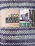 Life Comfort ECO Plush Throw 60 x 70 Inches ,Grey