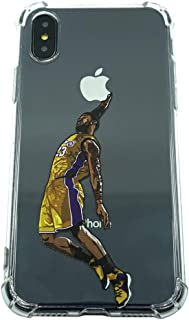 Basketball Stars Ultra Slim Crystal Clear Soft Transparent TPU Case Cover for Apple iPhone (LBJ, 7+/8+)